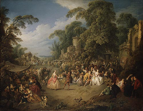 The Fair at Bezons, ca. 1733