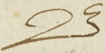 The letter B in MS 640