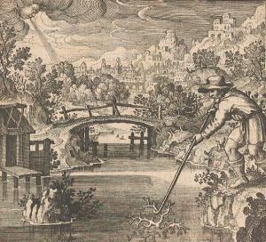 Michael Maier, Atalanta Fugiens [Atalanta Fleeing, or, New Chymical Emblems of the Secrets of Nature], Emblem XXXII, 1617.