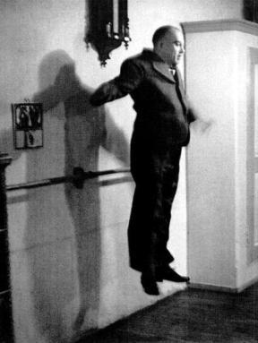 Nijinky jumping as an older man